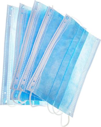 Set 5 masti de protectie respiratorie Platinet cu 3 straturi de unica folosinta marime universala Masti chirurgicale si reutilizabile