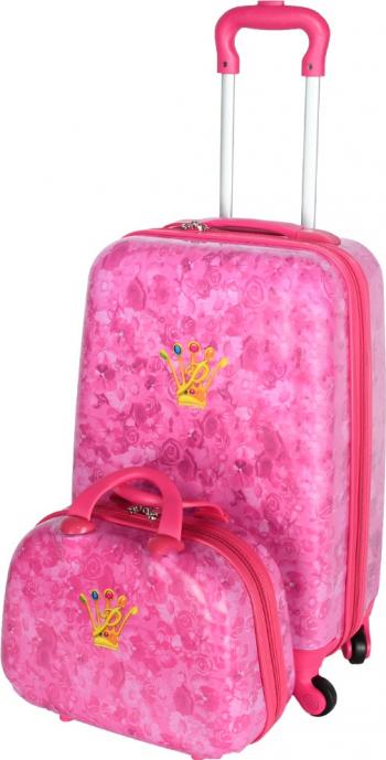 Set Troler + Geanta mana Disney Prinsessia roz 55 x 35 x 22 cm Trolere