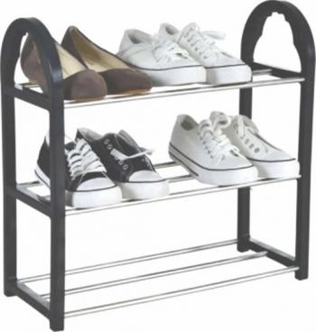 Suport pentru pantofi cu 3 rafturi pliabil 47 5 cm Pufo Dulapuri pantofi