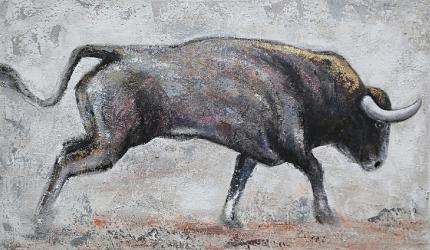 Tablou pictat manual Bull Obiecte de arta