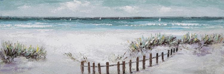 Tablou pictat manual Sea and dunes 50 x 150 cm Obiecte de arta