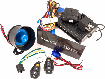 Alarma auto senzori soc pe 2 trepte cu telecomanda PHANTOM CA011 Alarme auto si Senzori de parcare