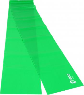 Banda elastica pentru fitness Shopiens Qizo cu rezistenta mare verde 150 x 15 cm