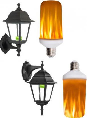 Bec cu LED 3in1 efect de flacara E27 Corpuri de iluminat