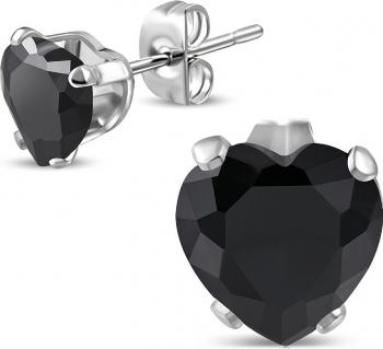 preț uimitor produse noi calde top fashion Cercei din inox inimioare esl1333