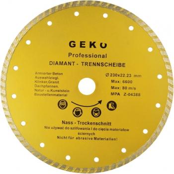 Disc diamantat turbo cu gauri 230x22 2mm Geko G00264