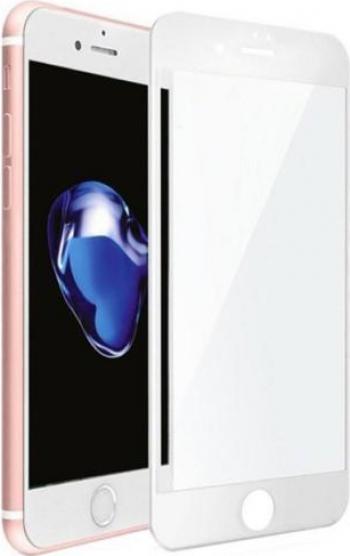 Folie sticla securizata SiiPRO tempered iPhone 7/8 plus Bord Alb