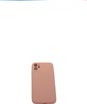 Husa de protectie pentru iPhone 11 ultra slim silicon interior din microfibra Roz Pudra