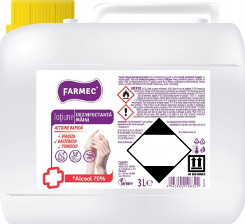 Lotiune dezinfectanta pentru maini Farmec cu 70 alcool efect antibacterian 3000 ml Gel antibacterian