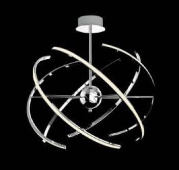 Lustra LED tip pendul Alyson Rabalux 48w 2765lm 3000k finisaj crom