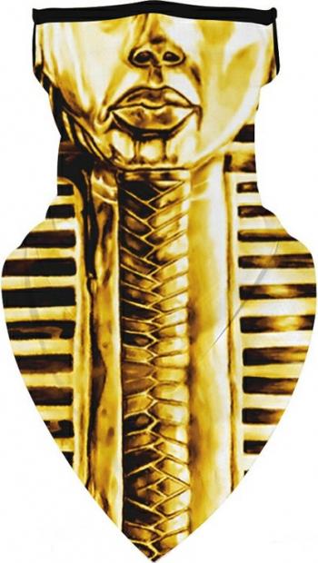 Masca tip esarfa din microfibra protectie nas si gat model faraon Negru auriu Masti chirurgicale si reutilizabile