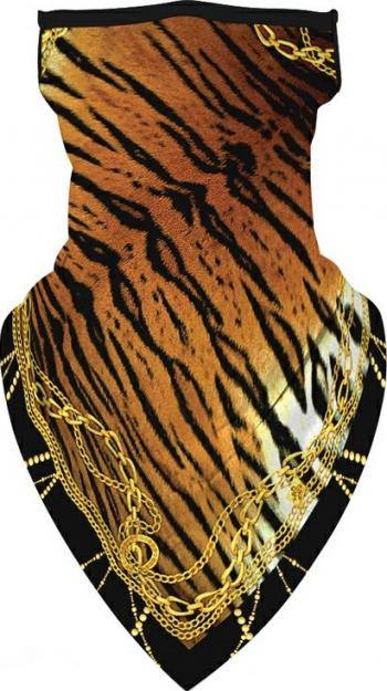Masca tip esarfa din microfibra protectie nas si gat model tigru multicolor Masti chirurgicale si reutilizabile
