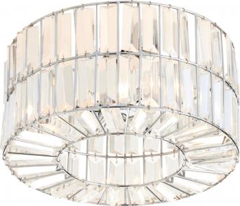Plafoniera Paris cu margele tip soclu G9. putere maxima 3 x 40 W metal si sticla Corpuri de iluminat