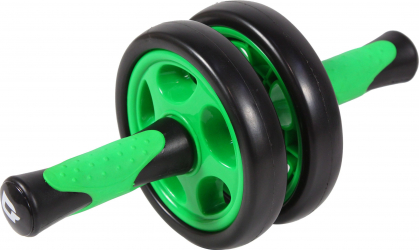 Roata dubla pentru exercitii Shopiens PVC verde