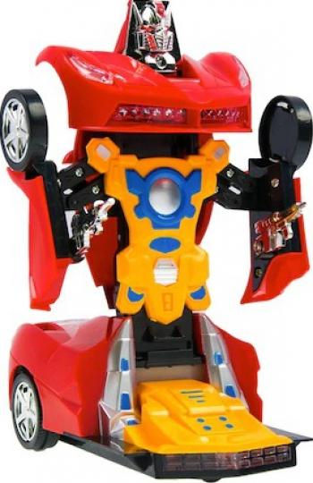 Robot Shopiens tip Masinuta Transformer Ferrari Rosu 2 In 1 23 x 11 x 10 cm Jucarii