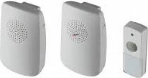 Sonerie fara fir Home DBS 1001DC 2 sonerii si 1 buton 100 m alimentare baterii Corpuri de iluminat