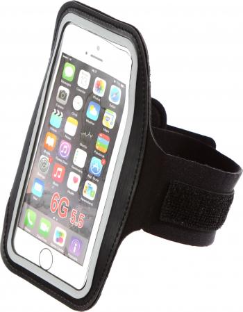 Suport pentru telefon Shopiens Qizo cu prindere pe brat piele + pvc