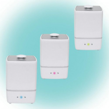 Umidificator la rece / cald cu ultrasunete 5L reglabil functie ionizare Corpuri de iluminat