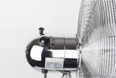 Ventilator inox cu picior Putere 50 W cu 3 trepte de viteza oscilatie automata debit 6000mc/h maner pentru transport facil 4 pozitii de