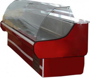 Vitrina frigorifica orizontala geam curbat termostat automat cu control temperatura latime 3 m Lazi si congelatoare