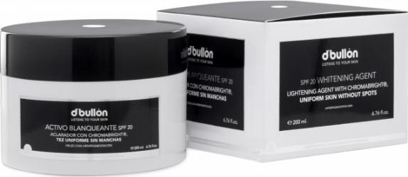 Crema Activa de Albire cu Protectie Solara pentru ten Pigmentat cu Chromabright DBullon SPF 20 200 ML