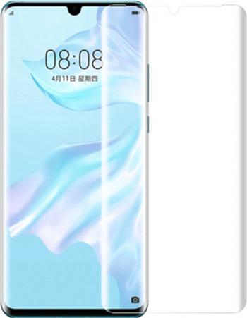 Folie de protectie din sticla temperata pentru Huawei P30 Pro curbata full glue cu adeziv UV transparent Folii Protectie