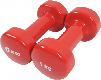 Gantere Shopiens Qizo metal cu invelis neopren set 2 buc x 3 kg