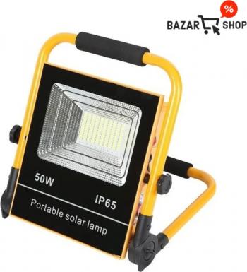 Proiector LED 50W portabil cu incarcare solara Corpuri de iluminat