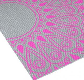 Saltea yoga Shopiens Gri cu roz 173x61 cm