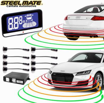 Senzori de parcare fata si spate STEELMATE PTS810EX cu display LCD V10 Alarme auto si Senzori de parcare