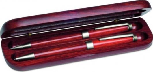 Set pix si creion mecanic din lemn de trandafir Rosewood Set Cadouri