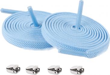 Sireturi Elastice cu sistem NO TOUCH cu clips metalic SIRETILA Plate Blue Accesorii incaltaminte