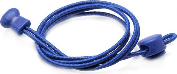 Sireturi Elastice cu sistem NO TOUCH cu Locker SIRETILA Reflectorizante Albastru Royal