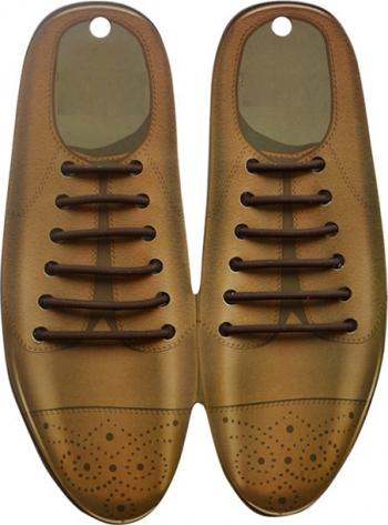Sireturi Elastice din Silicon pentru pantofi eleganti din piele functie NO TOUCH SIRETILA Maro Accesorii incaltaminte