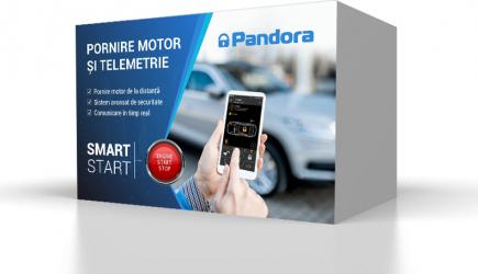 Sistem de securitate Pandora SMART START cu pornire motor de la distanta si telemetrie Alarme auto si Senzori de parcare