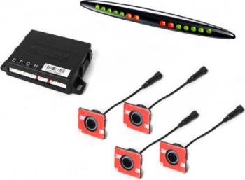 Senzori de parcare fata STEELMATE PTSF410EX cu aspect OEM cu display LED M21 Alarme auto si Senzori de parcare