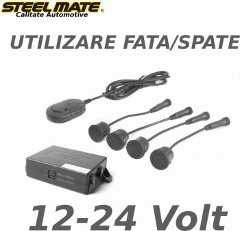 Senzori de parcare spate sau fata STEELMATE PTS411EX fara display alimentare 12-24v Alarme auto si Senzori de parcare