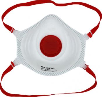 Masca profesionala protectie ridicata FFP3 KN99 valva expiratie rosie certificata CE Masti chirurgicale si reutilizabile
