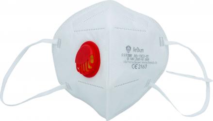 Set 5 Masti protectie KN95 FFP2 5 straturi valva expiratie rosie certificate CE Masti chirurgicale si reutilizabile