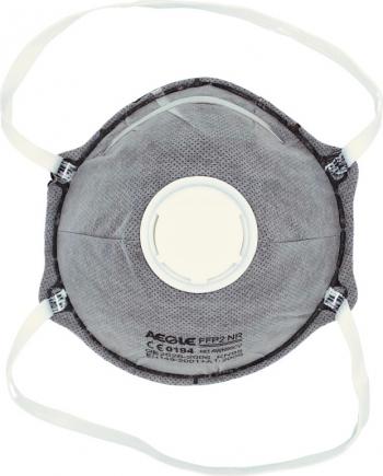 Set 5 Masti protectie ridicata KN95 FFP2 5 straturi valva expiratie filtru carbon activ Masti chirurgicale si reutilizabile