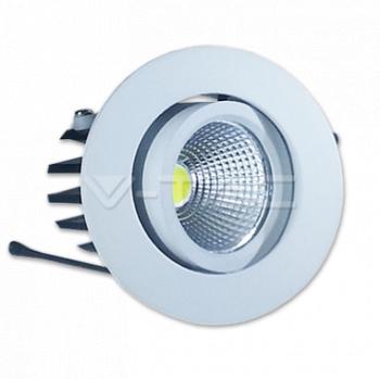 3W Spot LED Downlight COB Rotund - Alb Cald 3000K Corpuri de iluminat