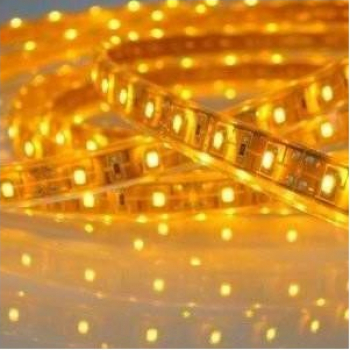 Banda LED FLEXIBILA SMD3528 12V DC 4.8W/M 60LED-uri/M galben 5m nerezistenta la apa Corpuri de iluminat