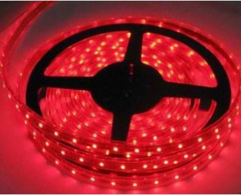 Banda LED flexibila SMD3528 12V DC 4.8W/M 60LED-uri/M rosu 5m nerezistenta la apa Corpuri de iluminat