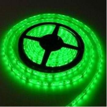 Banda LED flexibila SMD3528 12V DC 4.8W/M 60LED-uri/M verde 5m nerezistenta la apa Corpuri de iluminat