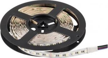 BANDA LED PROFESIONALA SMD5050 20w/m 84 LED-URI/M RGB+ALB CALD NEREZISTENTA LA APA Corpuri de iluminat