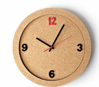 Ceas de perete din pluta ECO-CORK 30 cm Ceasuri si Radio cu ceas