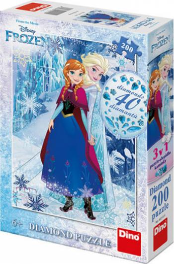 Frozen Diamond Puzzle - Regatul de Gheata - Anna si Elsa 200 piese Puzzle
