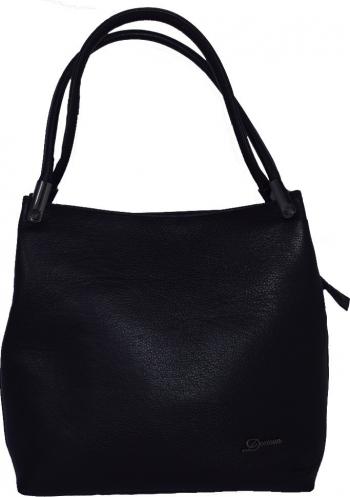 Geanta dama din piele naturala Desisan 2945-01-C-26 negru Negru