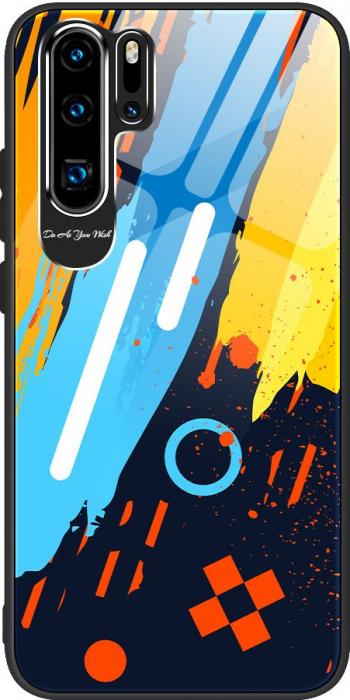 Husa de protectie Color Tempered Glass Pattern 1 iPhone 11 Pro Max Multicolor Folii Protectie