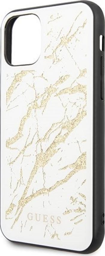 Husa de protectie Guess Marble Glitter iPhone 11 Pro Max AlbAuriu Huse Telefoane
